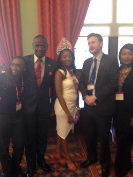Miss Sierra Leone UK and team at UK foreign & Commonwealth office.