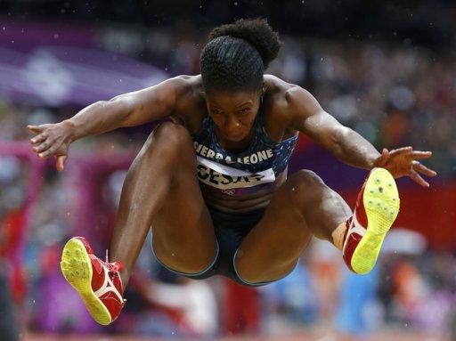Ola Sesay, Women's Long Jump Qualifiers, Aug 7th 2012. (c) Phil Noble/Reuters