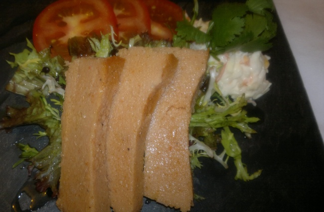 ORLEHLEH WITH CRISP SALAD AND COLESLAW
