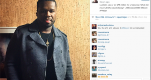 50 Cent Sign $78 milliion underwear deal