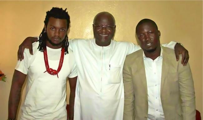 Rapper L A J, President Koroma, and Kao Denero