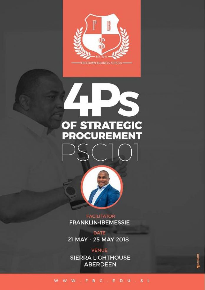 Sierra Leone The 4 Ps Of Procurement With Mr Franklin Ibemessie Is Newest Course At Fbs Sign Up Online