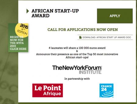 AfricanStartUpAward-NYForum-NYFA-2015