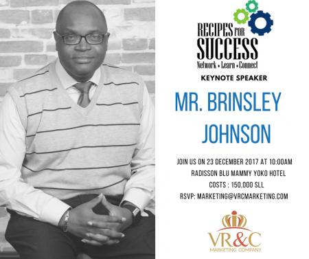 BrinsleyJohnson-Keynote-accountant-RecipesforSuccessV-SierraLeone