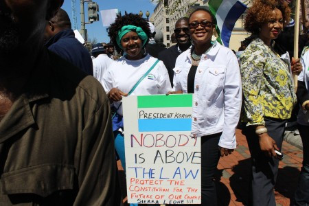Concerned Citizens protest-Sierra Leone-Lafayette Park_April 201512