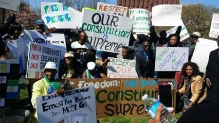 Concerned Citizens protest-Sierra Leone-Lafayette Park_April 201513