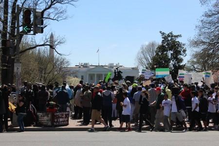 Concerned Citizens protest-Sierra Leone-Lafayette Park_April 201515