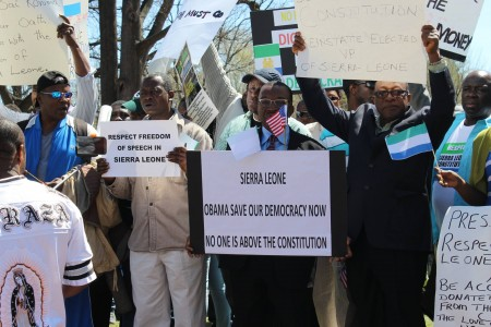 Concerned Citizens protest-Sierra Leone-Lafayette Park_April 201516
