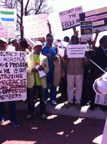 Concerned Citizens protest-Sierra Leone-Lafayette Park_April 20154
