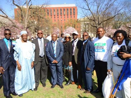 Concerned Citizens protest-Sierra Leone-Lafayette Park_April 20156