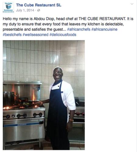 Cube Restaurant SierraLeone FB 3