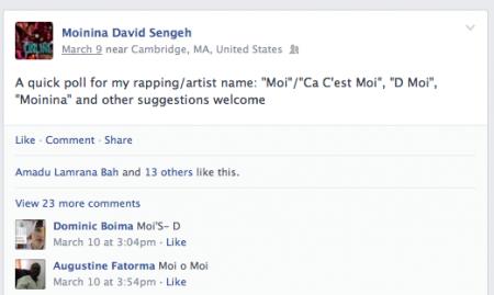 David Moi Sengeh Ca C'est Moi Online