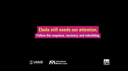 Ebola still needs our attention