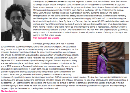 Edleen Elba, Lydia Forson, Memuna Janneh, Afua Osei, Jay Gyebi, Wade C L Willaims, womensday 2015, Africa, GoWoman Magazine-2