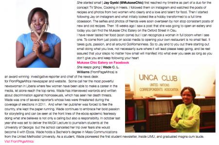 Edleen Elba, Lydia Forson, Memuna Janneh, Afua Osei, Jay Gyebi, Wade C L Willaims, womensday 2015, Africa, GoWoman Magazine-3
