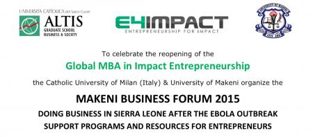 Global MBA in Impact Entreprenuership_Makeni-UNIMAK_MakeniBusinessForum-SierraLeone