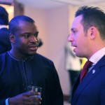 Tobi Osibodu MBA'13 and Ari S. Untracht, CEO, Taia Lion Resources