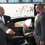 President Ernest Bai Koroma arrives at VIP Lounge at the Accra International Conference Center