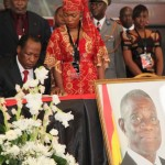 Blaise Campaore, President of Burkina Faso signs book of condolence in Accra, Ghana