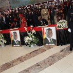 West African heads of states sign book of condolence in Accra, Ghana the morning before the burial of late John E Atta-Mills