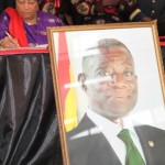 Ellen Johnson-Sirleaf signs book of condolence for John E Atta-Mills in Accra, Ghana