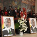 West African head of states sign the book of condolence for the late President John E. Atta Mills in Accra, Ghana