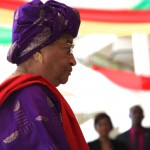 Liberia's President Ellen Johnson-Sirleaf in Ghana for Atta-Mills funeral in July