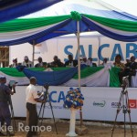 Sierra Leone fibre optic launch SALCAB (February 2013)