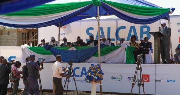 Sierra Leone fibre optic launch SALCAB (February 2013)