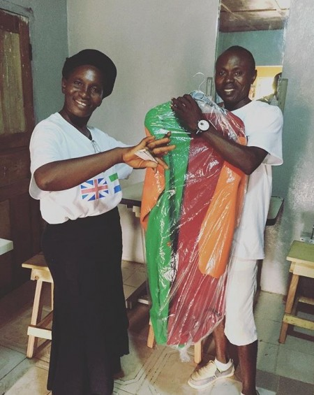The moment the first piece was completed and bagged in Freetown.