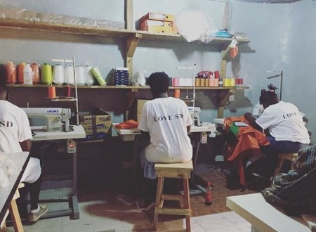 Sydney Davies studio in Freetown.