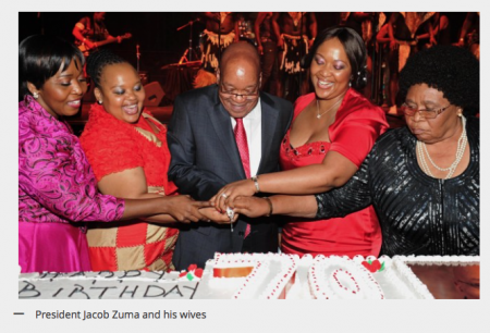 Jacob Zuma and 4 wives
