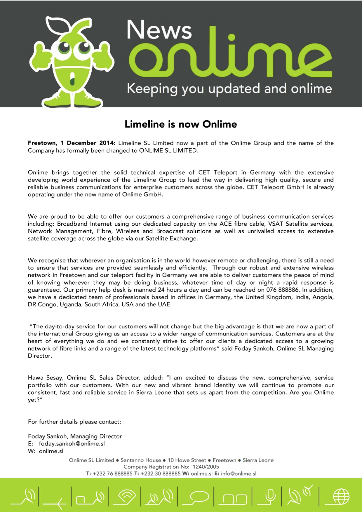 Limeline Is Now Onlime PR