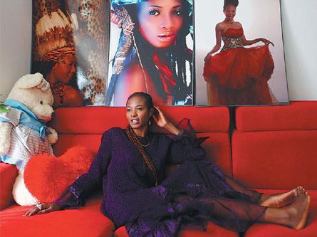 Mariatu Kargbo Miss Sierra Leone 2009 in China Daily (Photo Credit: Zou Hong/ China Daily)