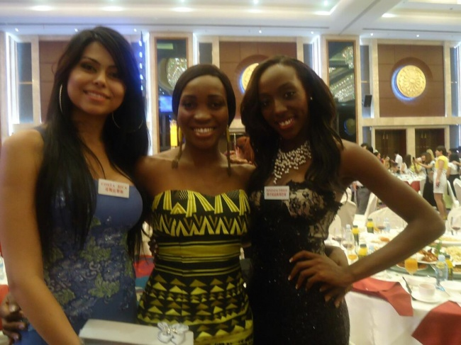 Vanessa Wiliams, Miss Sierra Leone 2012 at the Miss World Pageant in Ordos, China