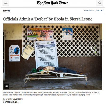 NYTines Nossiter Article on Ebola Defeat