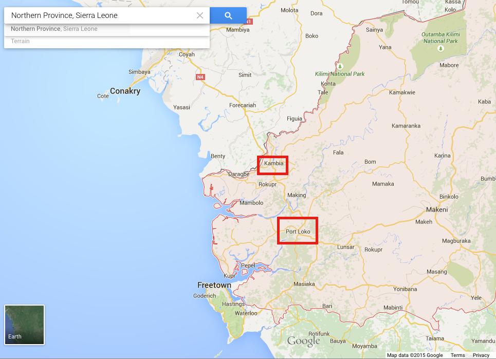 Northern Sierra Leone Map