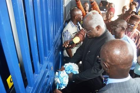 President of Sierra Leone opens new Union Trust Bank branch Mile 91_Feb 2015