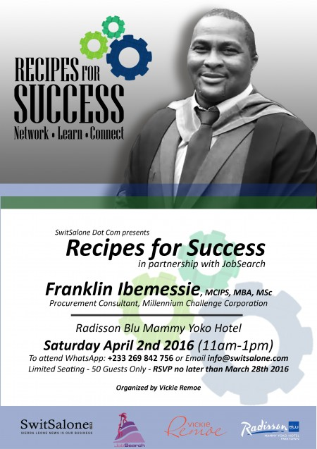 Recipes for Success II - Franklin Ibemessie-flyer