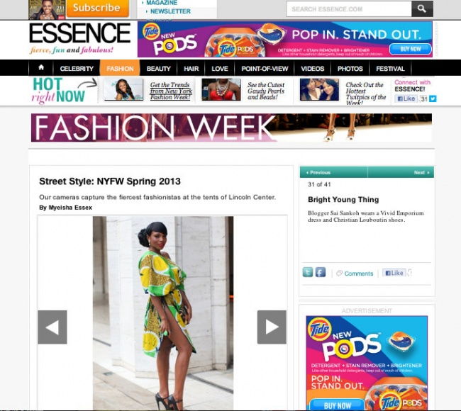Sai Sankoh NY fashion week 2012 essence