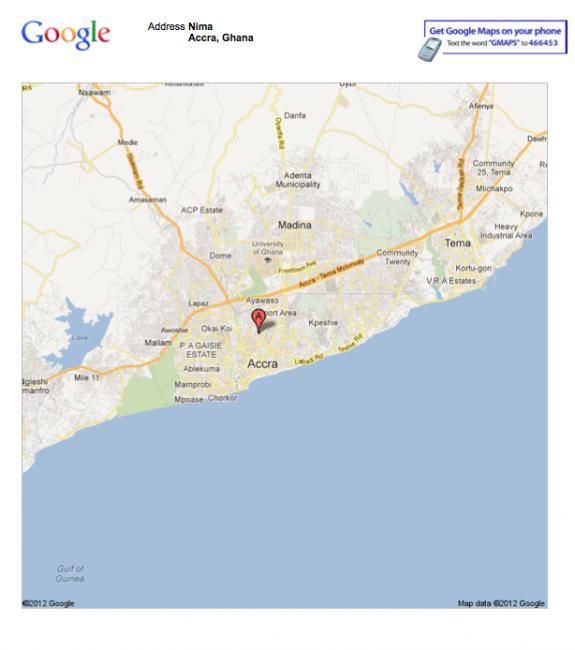 Where is Nima-Maamodi in Accra, Ghana?
