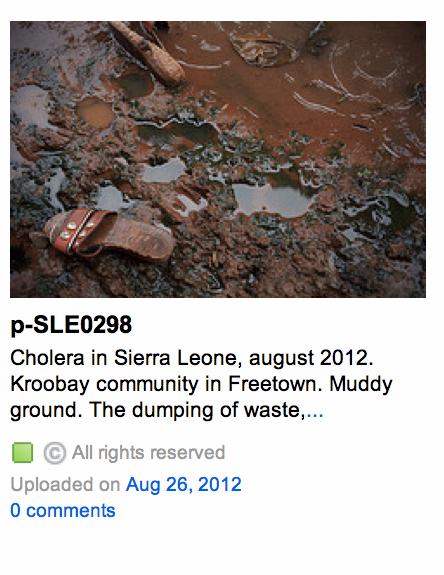 Sierra Leone Cholera outbreak in slums