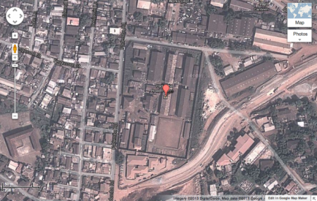 Google map of Pa Demba Road Prison in Freetown