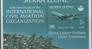 Sierra Leone Airlines over Freetown