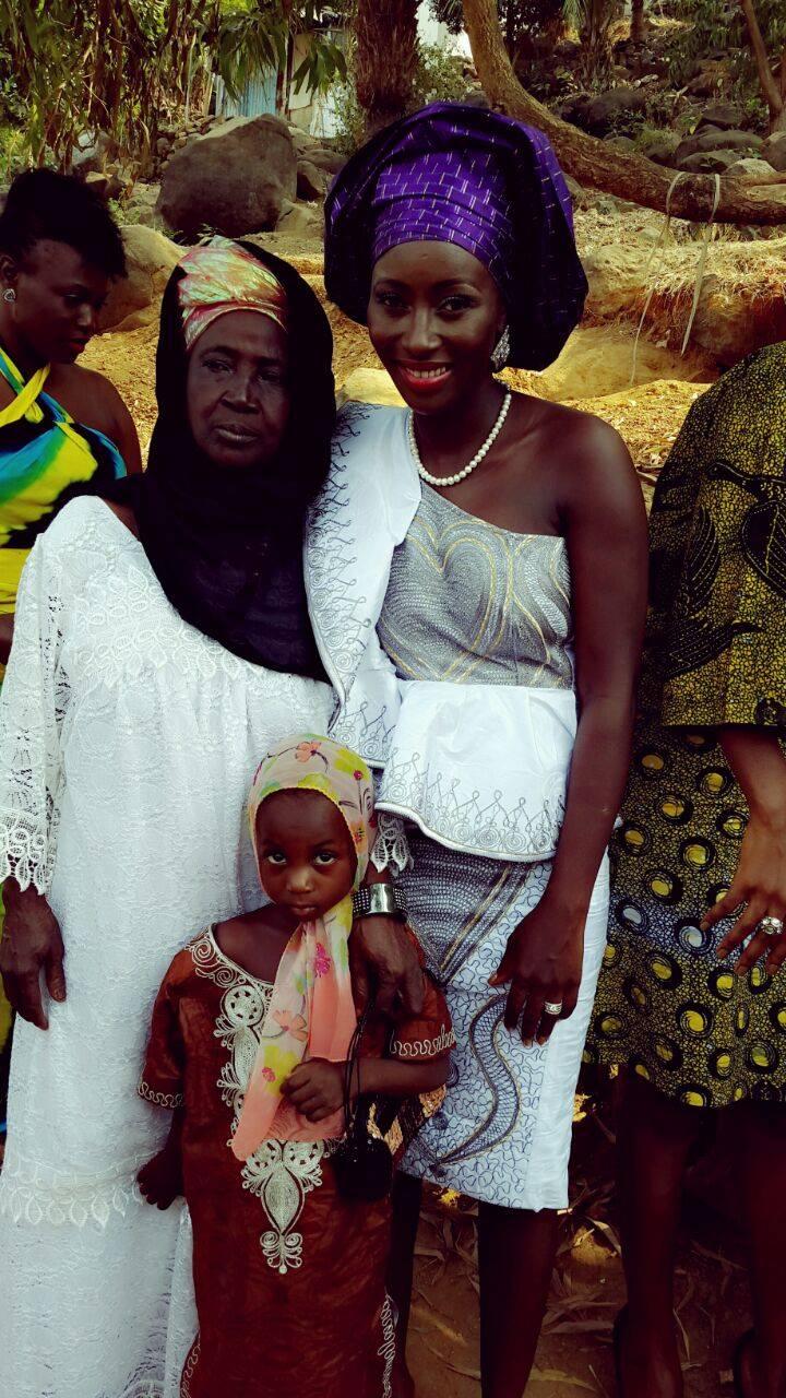 Sierra Leone Weddings-Model Designer Kadiatu of Vivid Emporium Traditional Wedding2