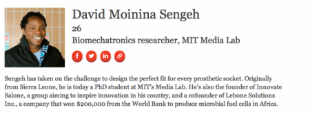 Sierra Leone's David Sengeh Forbes 30 Under 30 in Technology