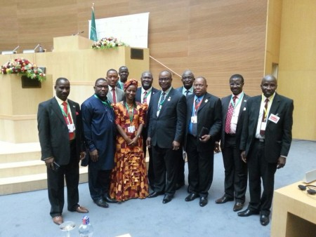 Sierra Leone's delegation to 24th AU summit in Addis Ababa, Ethiopia 2015 them Year of Women's Empowerment and Development
