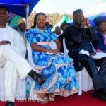A cross section of Sierra Leone members of cabinet including Minister of Finance, Mr Kaifala Marah in white