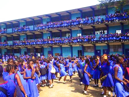 Students from St. Joseph's Convent school for girls in Freetown. Photo (c) Awareness Times