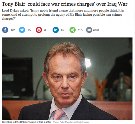 Tony Blair War Crimes